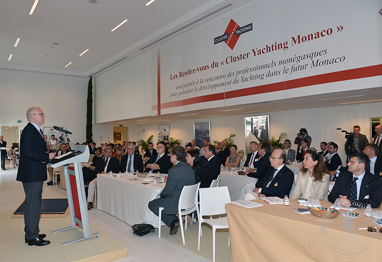 Speech by Minister of State HE Mr Serge Telle at the opening of the Cluster Yachting Monaco - ©Charly Gallo