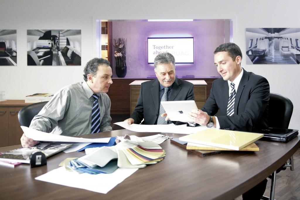 RUAG-Aviation_Cabin-Interior-Showroom_Selection_Meeting